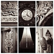 Doorknobs Prints - Elegant Elements Collage Print by Carol Groenen