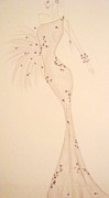 Gala Gown Drawings Framed Prints - Elegant Neutrals Framed Print by Christine Corretti