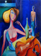 Night Glow Painting Originals - Elegant Vision by Luff  Gallery