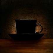Red Cup Coffee Posters - Elegantly Black Poster by Lourry Legarde
