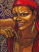 Orisha Paintings - Eleggua Orisha Of The Crossroads by Carolina Gonzalez