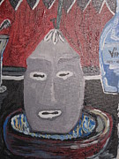 Santeria Paintings - Elegua Alaguana by Yoandy Rodriguez