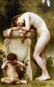 Little Boy Prints - Elegy Print by William Bouguereau