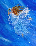 Charlotte Painting Posters - Elemental Earth Angel Of Wind Poster by The Art With A Heart By Charlotte Phillips