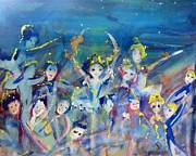 Elementals On The Beach Ballet Print by Judith Desrosiers