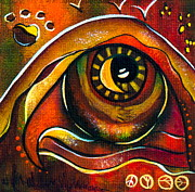 Visionary Art Painting Prints - Elementals Spirit Eye Print by Deborha Kerr