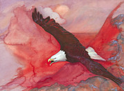 Eagle Paintings - Elements  by Susan Miller