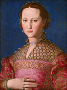 Gown Paintings - Eleonora of Toledo by Bronzino