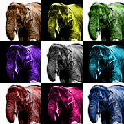 James Ahn - Elephant 3374 - Mosaic -...