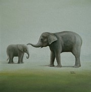 Sharon Challand - Elephant Art    Just Mom...