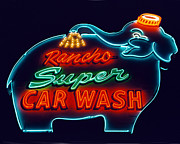 Sign Prints - Elephant Car Wash Rancho Mirage California Print by Matthew Bamberg