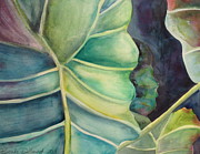 Jewel Tone Paintings - Elephant Ear by Brenda Dolhanczyk