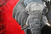 Africa Art - Elephant by Ilse Kleyn