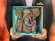 Leah Saulnier The Painting Maniac - Elephant In A Box edit 2
