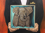 Leah Saulnier The Painting Maniac - Elephant In A Box