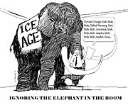 Ignore Prints - Elephant in Room Print by Robert Bissett