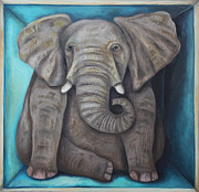 Leah Saulnier The Painting Maniac - Elephant In The Room 2