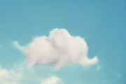 Blue Clouds Prints - Elephant in the Sky Print by Amy Tyler