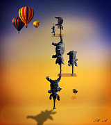 Surrealist Digital Art - Elephant Life 2 by Mark Ashkenazi