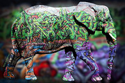 Kids Room Art Metal Prints - Elephant Metal Print by Mark Ashkenazi