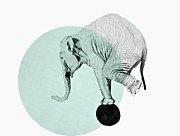 Youthful Drawings Prints - Elephant Print by Morgan Kendall