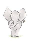 Elephant Nursery Art Print by Christy Beckwith