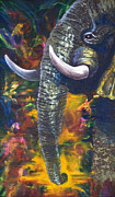 Oil On Masonite Posters - Elephant Poster by Rene