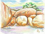 Plein Air Drawings - Elephant Rocks State Park II  No C103 by Kip DeVore
