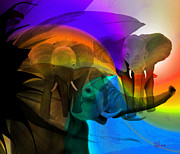 Elephant Walk Print by Sydne Archambault