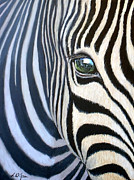 Zebra Paintings - Elephants Eye by Linda Wilson