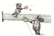Donna Tucker - Elephants playing tennis