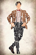 Typographic  Digital Art Posters - Eleventh Doctor - Doctor Who Poster by Ayse T Werner