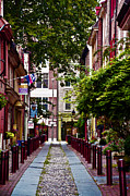 Phila Framed Prints - Elfreths Alley in Old City Framed Print by Bill Cannon
