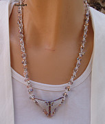 Featured Jewelry - Elgant Swarovski Necklace by  Nurit Schlomi Von-staruss