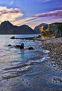 Up And Coming Prints - Elgol Beach Sunset Print by Marcia Colelli
