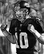Giants Drawings - Eli by Jerry Winick