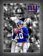 Giants Posters - Eli Manning Giants Poster by Joe Hamilton