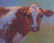 Bulls Pastels Metal Prints - Eli Metal Print by Susan Williamson