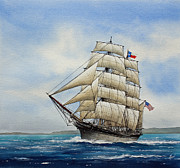 Maritime Greeting Card Painting Originals - Elissa by James Williamson