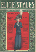 Covers Drawings Prints - Elite Styles 1910 1910s Usa Womens Print by The Advertising Archives