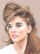 Hairstyle Pastels Posters - Elizabeth Poster by Chantal Handley