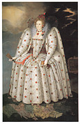 Queen Elizabeth Paintings - Elizabeth I of England by Marcus Gheeraerts the Younger