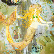 Mermaid Mixed Media - Elizabeth Mermaid by Sarah Kiser