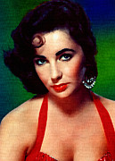 Motion Picture Star Prints - Elizabeth Taylor Print by Allen Glass