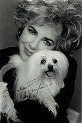 Elizabeth Taylor Framed Prints - Elizabeth Taylor And Friend Framed Print by Studio Photo