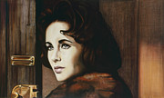 Elizabeth Taylor Paintings - Elizabeth Taylor - Butterfield 8 by Robert Scott Chiarella