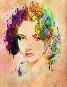 Female Legends Digital Art Framed Prints - Elizabeth Taylor Framed Print by Mark Ashkenazi