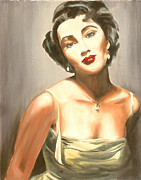 Elizabeth Taylor Paintings - Elizabeth Taylor by MiPortafolio Digital