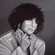 Eyes  Paintings - Elizabeth Taylor by Paul  Meijering