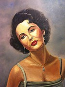 Elizabeth Taylor Painting Originals - Elizabeth Taylor by Wendy Kerry
